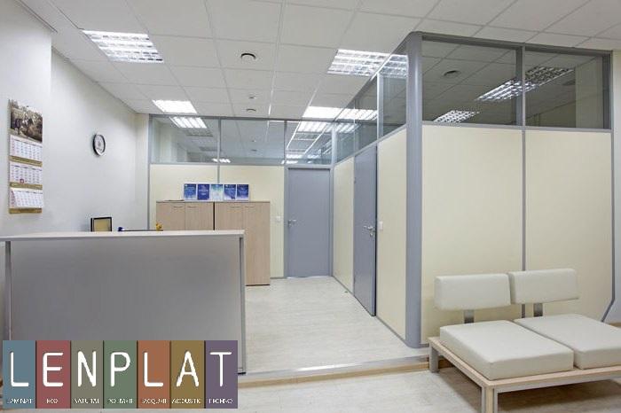 Офисные перегородки - панели гипсовинил Ленплат